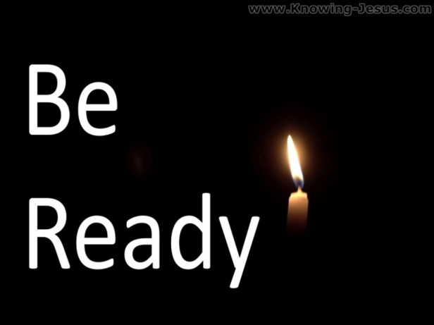 matthew 24-44 be ready-candle