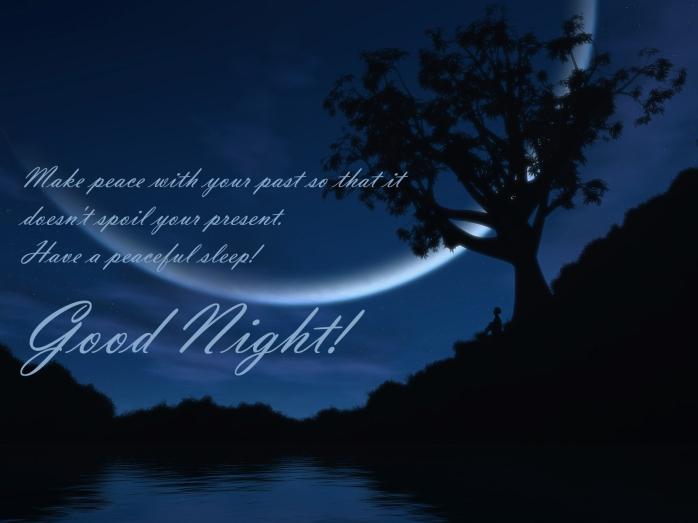 peaceful sleep - good night