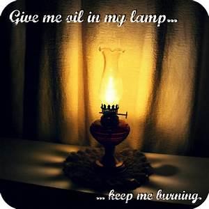 Oil in my lamp