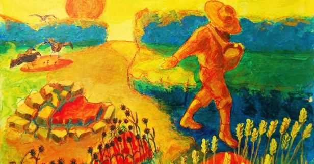 The Sower Painting by Bertram Poole