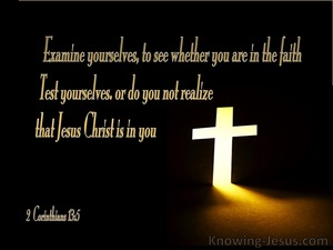 2 Corinthians 13-5 Examine Yourselves black