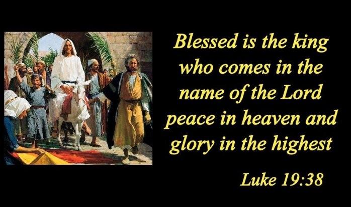 luke 19 38 bible verse