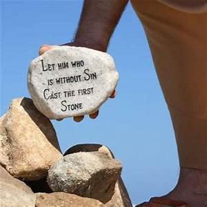 No stone to throw