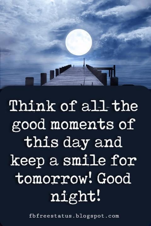 Think Goodness Good night