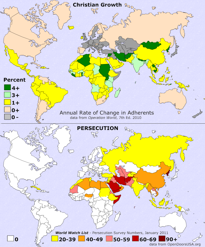 Christian growth and Persecution