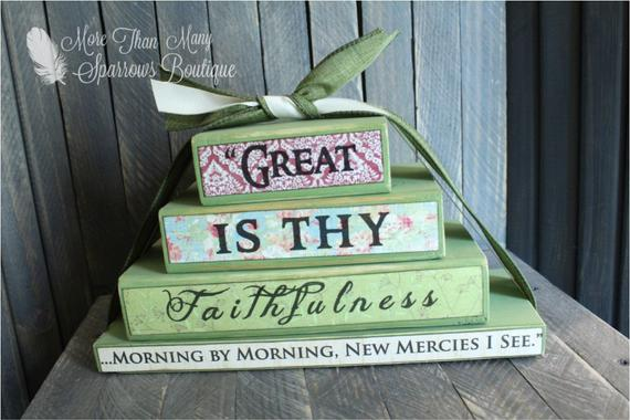 great is thy faithfulness Inspirational gift