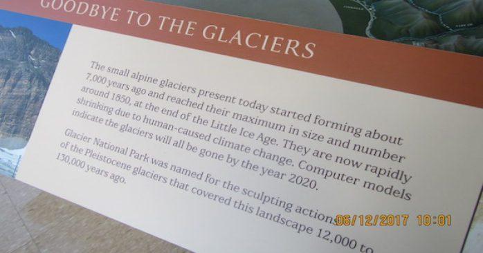 Glacier signs removed