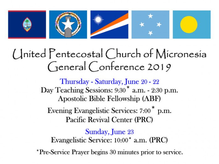 UPC Micronesia General Conference 2019